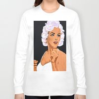 marilyn Long Sleeve T-shirts featuring Marilyn by Saundra Myles