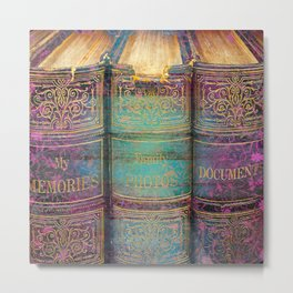 392 9 Fairytale Books Metal Print