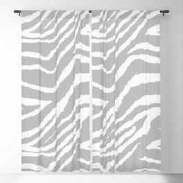 ZEBRA GRAY AND WHITE ANIMAL PRINT Blackout Curtain