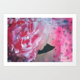 Pretty in Pink Peony Art Print