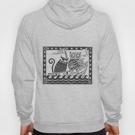 The Owl And The Pussycat (white background) Hoody