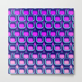 Seamless Colorful Geometric Pattern XXXIV Metal Print