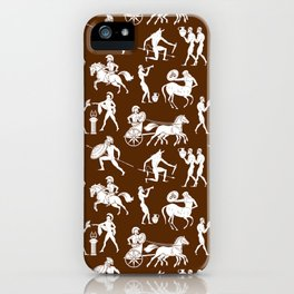 Greek Figures // Brown iPhone Case