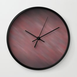 Abstract Soft Watercolor Gradient Blend Graphic Design 13 Red, White and Black Wall Clock