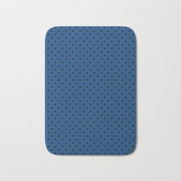 Blue with black polka dots. Bath Mat