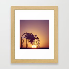 Techno sunset Framed Art Print