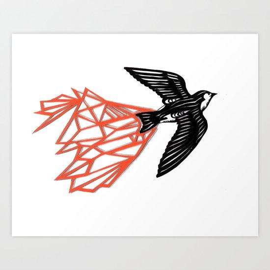 Violet Green Swallow Art Print