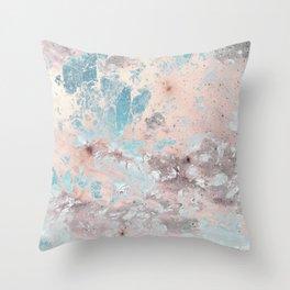 Pastel marble texture Throw Pillow
