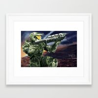 master chief Framed Art Prints featuring Master Chief by PrintsofErebor