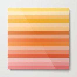 Multi Color Stripes Metal Print