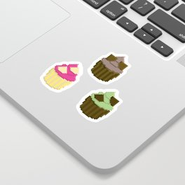 Triple Chocolate Cupcake Sticker Pack Sticker