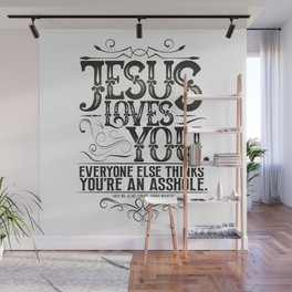 Jesus Loves You Book Quote design Wall Mural