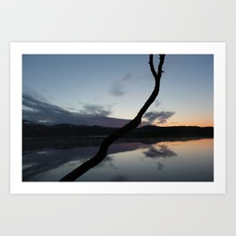 Sunset on lake, Nature Photography, Landscape Photos, sunset photos Art Print