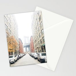 brooklyn streets Stationery Cards