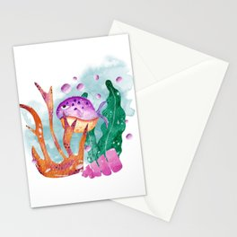 Watercolor fish, under the sea nursery Stationery Cards