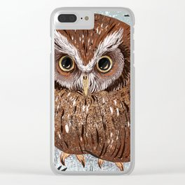 Painted Owl Clear iPhone Case