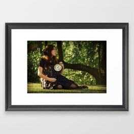tick-tock Framed Art Print