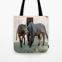 In For The Long Haul (Horses in Northern California) Tote Bag