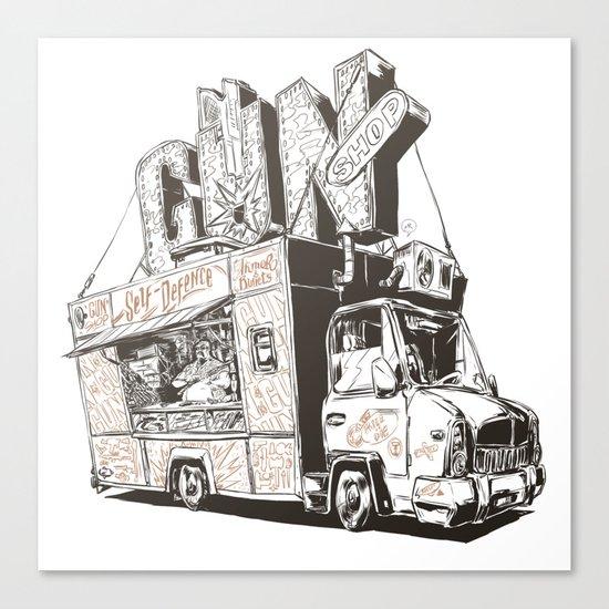 Shopping Truck Canvas Print