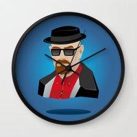 heisenberg Wall Clocks featuring Heisenberg by Kody Christian