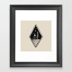 Night Camp Framed Art Print