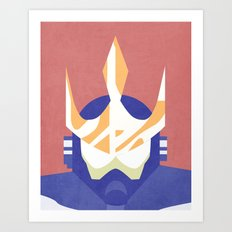Wave Man Boss Art Print