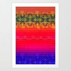 Playing With Stripes Art Print