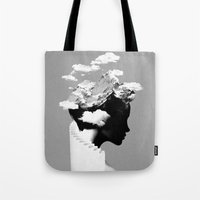 silhouette Tote Bags featuring It's a cloudy day by Robert Farkas