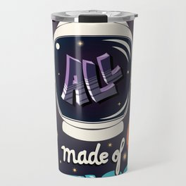 We are all made of stars, typography modern poster design with astronaut helmet and night sky Travel Mug