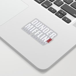 Dunder Mifflin The Office Logo,white Sticker