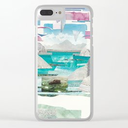 Gone Missing Clear iPhone Case