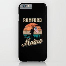 Rumford Maine iPhone Case