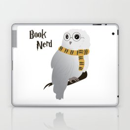 Book Nerd Hedwig - Hufflepuff Laptop & iPad Skin