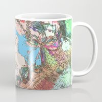 hong kong Mugs featuring Hong Kong Garden by Glanoramay