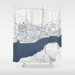 Dundee City Map of Scotland, UK - Coastal Shower Curtain