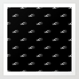 Formula One Black and White Graphic Pattern Art Print