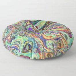 Neural Abstraction #2 Floor Pillow