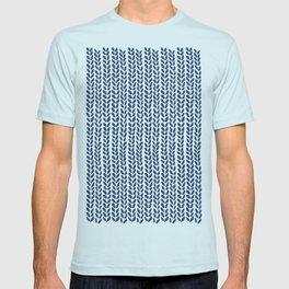 Knit Wave Navy T-shirt