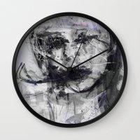 cara Wall Clocks featuring Cara by wildunit