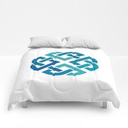 St. Patrick's Day Celtic Blue Knot #2 Comforters