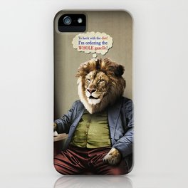 Hungry Lion iPhone Case