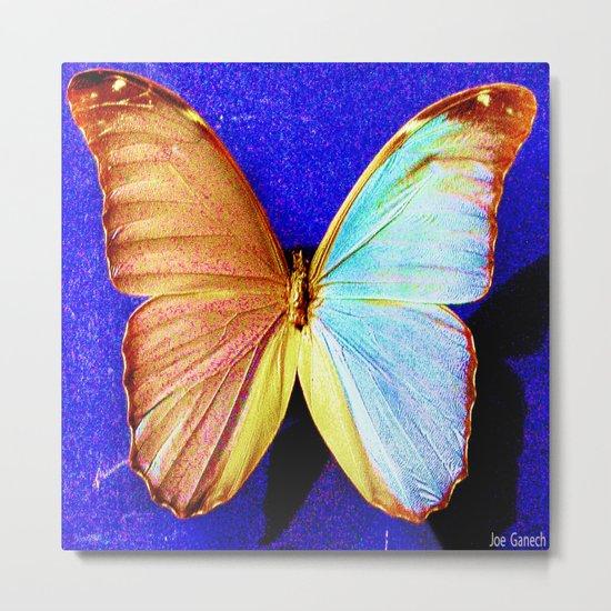 le papillon bleu Metal Print