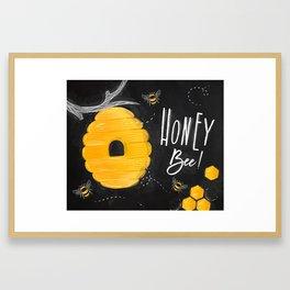 Honey bee chalk Framed Art Print