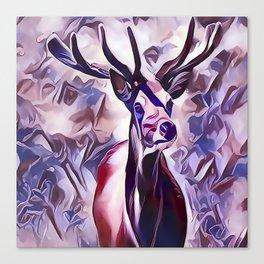Powerful Adult Deer Canvas Print