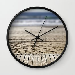 At the end of the boardwalk Wall Clock