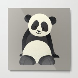 Whimsy Giant Panda Metal Print