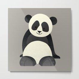 Whimsy Giant Panda Metal Print