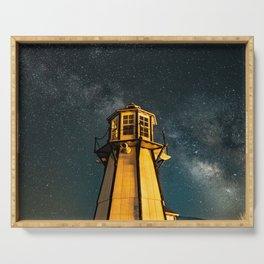 Mountain Light House Two Serving Tray