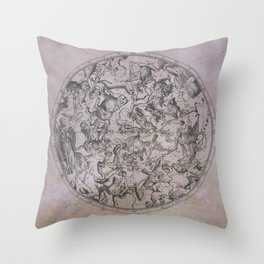 Vintage Constellations & Astrological Signs | Beetroot Paper Throw Pillow