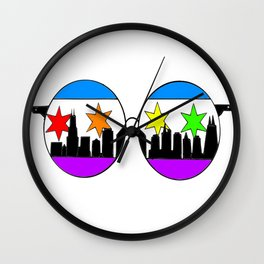 chicaGOggles Pride Wall Clock